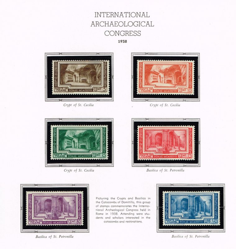 ITALY VATICAN CITY MH/OG STAMPS COLLECTION LOT #8 1938 Congress SET $95
