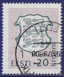 Estonia - 1993 - Scott #223 - used - Arms