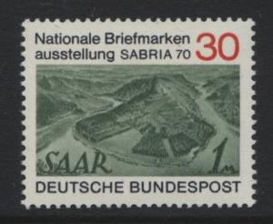 GERMANY. -Scott 1017 - Saar 171 -1970- MNH - Single 30pf Stamp