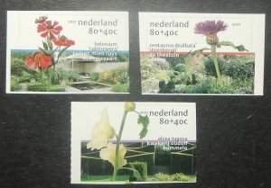 Netherlands B725-27. 2001 Flowers, self-adhesive, NH