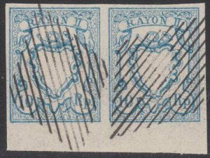SWITZERLAND  An old forgery of a classic stamp - pair.......................B198