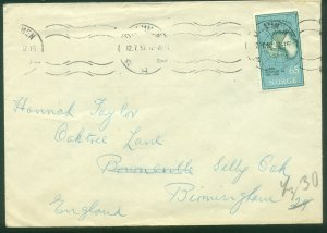 NORWAY 257, MAP OF ANTARTICA, CIRCULATED COVER TO ENGLAND. VF. (329)