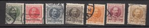 J26562 jlstamps 1907-12 denmark set used #72-8 king