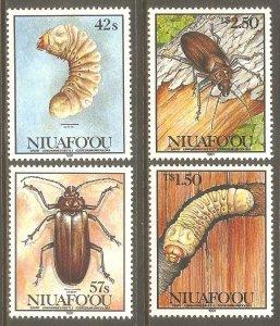 TONGA NIUAFO'OU Sc# 140 - 143 MNH FVF Set4 Insects Bugs