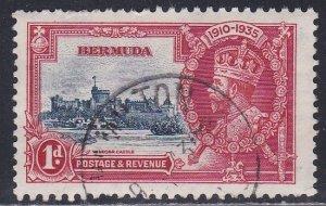 Bermuda # 100, Silver Jubilee, Used, 1/3 Cat.