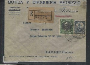 CHILE  (P3108B)   19125   1P+5C REG COVER TO ITALY