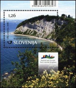 Slovenia. 2016. Nature Parks in Slovenia – Strunjan Nature Park (MNH OG) S/S
