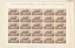 Spain Fighting Bull 1960 mint never hinged stamps sheet   R19998