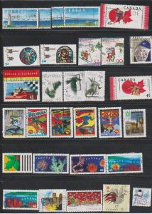 LOT OF DIFFERENT STAMPS OF CANADA USED(28) LOT#326