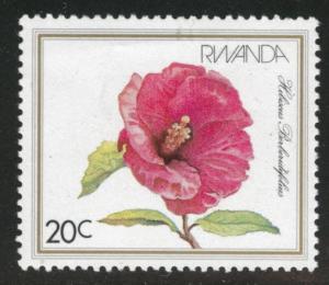 RWANDA Scott 1083 MNH** 1981 flowerstamp