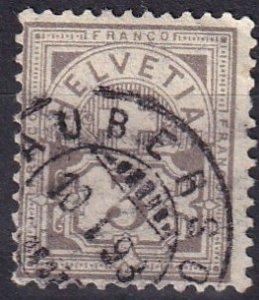 Switzerland #70a F-VF Used  CV $72.50   (Z1256)