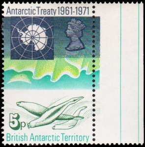 British Antarctic Territory Scott 41 Unused lightly hinged.