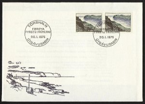 wc064 Faroe Islands 1975 landscapes fjords FDC first day cover