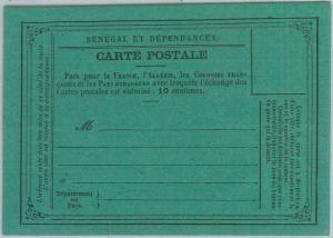 77374 - SENEGAL - POSTAL HISTORY -  POSTAL STATIONERY Formular Card H & G # 1