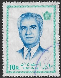 IRAN 1974 10r Mohammad Reza Shah Pahlavi Portrait Issue Sc 1771 VFU