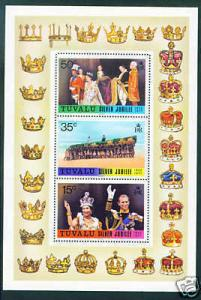 Tuvalu Scott 45a MNH** 1977 QE2 Coronation 25th CV $8.