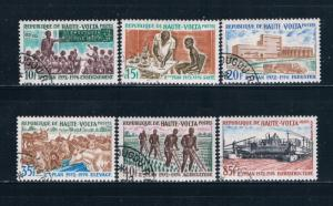 Upper Volta 275-79 Used set Five year plan 1972 (U0339)