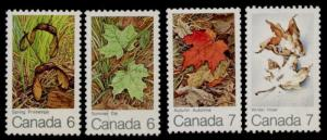 Canada 535-8 MNH Maple leaves in Four Seasons