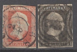 COLLECTION LOT # 2029 PRUSSIA #2-3 1850 CV+$66