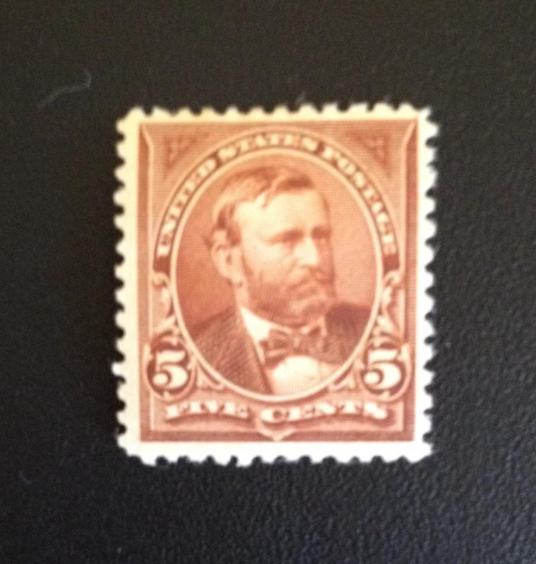 SCOTT #255 Grant, Unwtrmked, MINT, VF, HR, OG  CV $165   GREAT NEW PRICE!