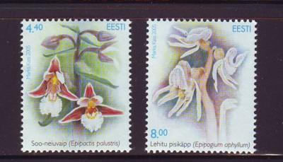Estonia Sc 515-6 2005 Orchid stamps mint NH
