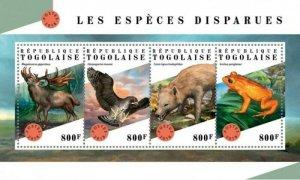 Togo - 2018 Extinct Species - 5 Stamp Sheet - TG18311a