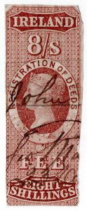 (I.B) QV Revenue : Ireland Registration of Deeds 8/- (1861)