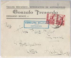 SPAIN  España - POSTAL HISTORY - ADVERTISING COVER - Guerra civil : CAR MECHANIC
