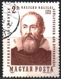 Hungary. 1964. 2023. Galileo Galilei, astronomer. USED.