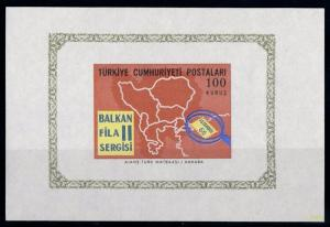 [68820] Turkey 1966 Balcan Map Souvenir Sheet MNH