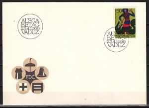 Liechtenstein, Scott cat. 434. St. George value. Patron Saint.. First day cover.
