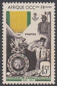 French West Africa 57 MVLH CV $8.75