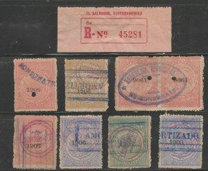 MX-108 fiscal revenue stamp c Shipping note - El Salvador