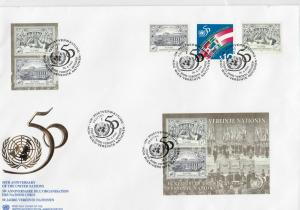 United Nations 1995 50th Ann. of the United Nations Multi Stamps Cover ref 22883