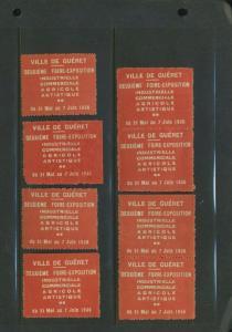 7 1936 VILLE DE GUERET DEUXIEME FIORE FAIR EXPO POSTER STAMPS (L1072) FRANCE
