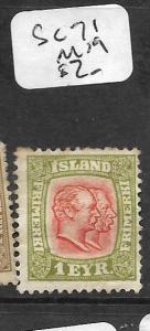 ICELAND (PP2801B) 1 EYR SC 71  MOG