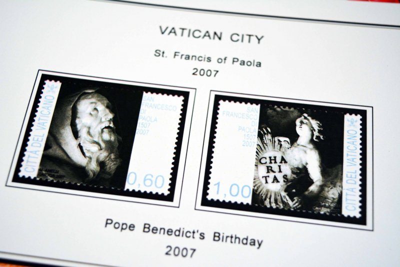 COLOR PRINTED VATICAN CITY 1929-2010 STAMP ALBUM PAGES (187 illustrated pages)