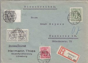 1946, Luneburg to Hanover, Germany, Registered W/AMG's (28517)
