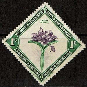 Costa Rica 184 Unused (1938) - National Flower - Orchid