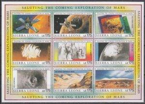 1990 Sierra Leone 1365-1373KL Satellites / Mariner 9 36,00 €