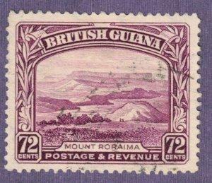 BRITISH GUIANA - 1934 SG298 72c Purple Mount Roraima Used