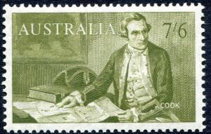 AUSTRALIA-1964 7/6 Olive Sg 357 UNMOUNTED MINT V27648
