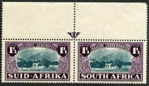 South Africa, Scott #B11, Mint, Never Hinged pair, top selvage