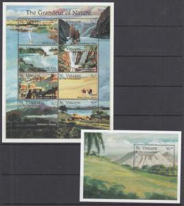 St. Vincent 2229-2230 MNH. 1995 Natural Wonders of the World, complete set, VF