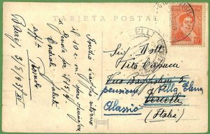 98664 - ARGENTINA - POSTAL HISTORY - POSTCARD to  ITALY - 1937