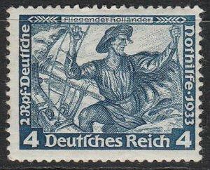 Stamp Germany Mi 500 Sc B50 1933 WWII 3rd Reich Dutchman Richard Wagner MNG