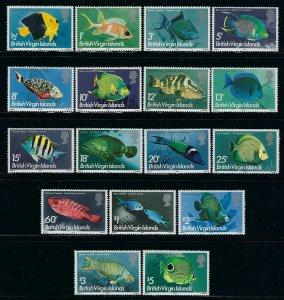 British Virgin Islands Scott 284-300 Mint Never Hinged
