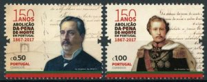 Portugal Historical Events Stamps 2017 MNH Abolition of Death Penalty 2v Set