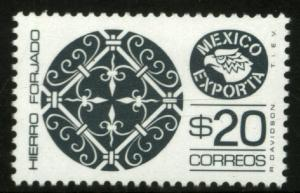 MEXICO Exporta 1128 $20P Wrought Iron P 14 Fluor Paper 8 MINT, NH. VF.
