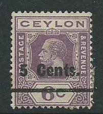 Ceylon Edward VII  SG 362   Used